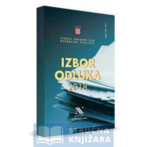 Izbor-odluka-visokog-upravnog-suda-Republike-Hrvatske-2018-Strucnaknjizara