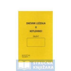Dnevnik loženja u kotlovnici strucnaknjizara